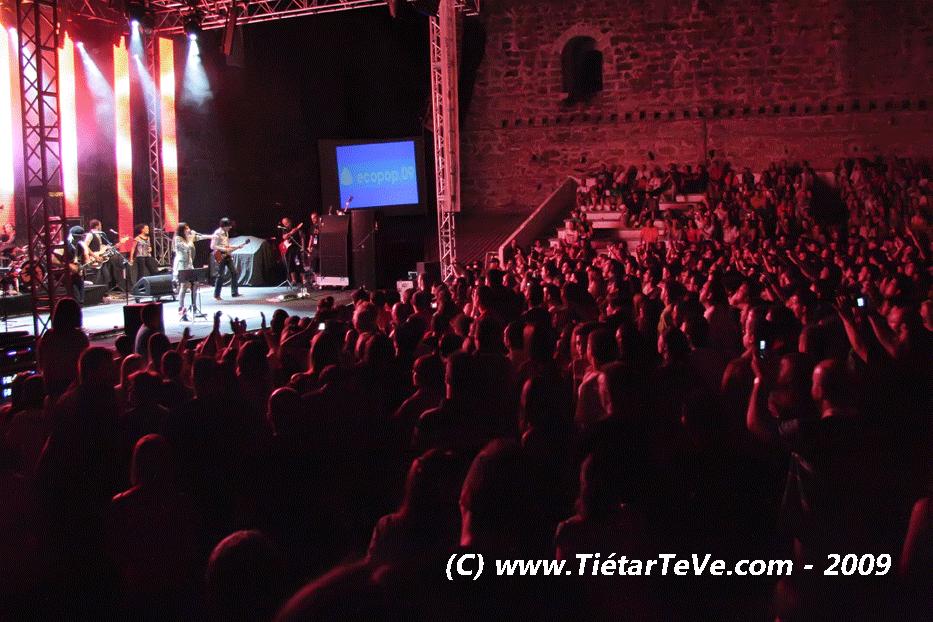 20 de Agosto de 2009. Actuación de Amaral en el Castillo de Arenas