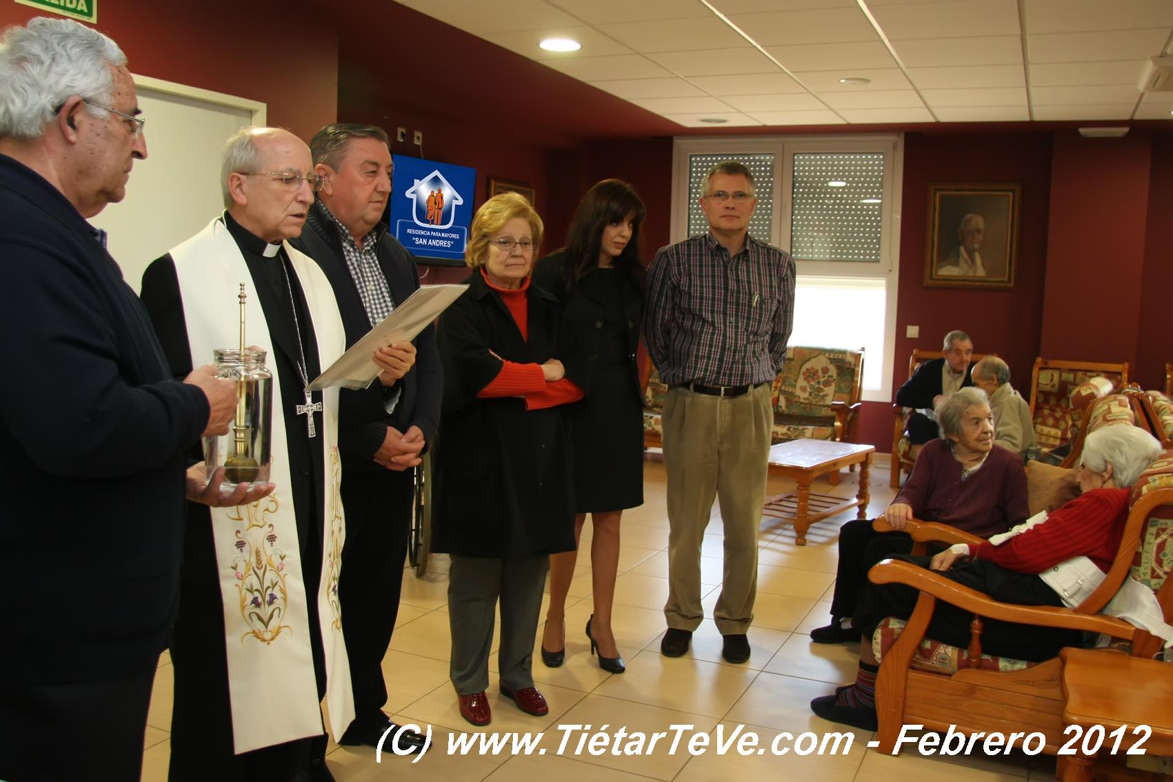 Bendición del Obispo de Ávila en la Residencia San Andrés