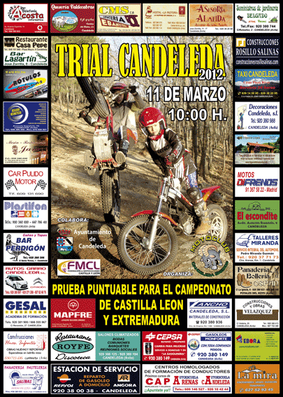 Póster completo Trial Candeleda 2012