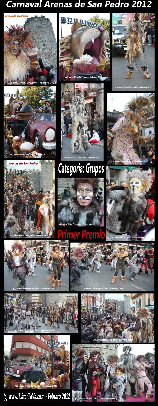 "Carnaval Arenas 2012 - ""Cats"" - Primer Premio"