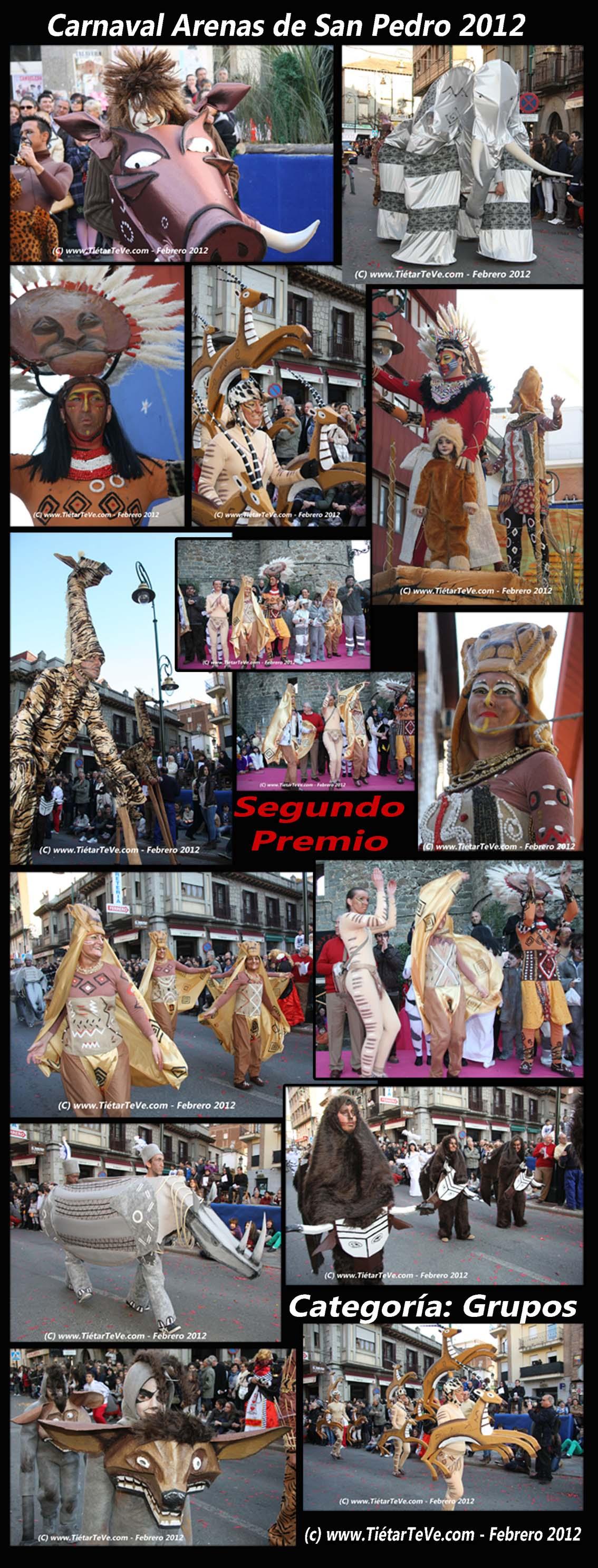 """Carnaval Arenas 2012 - Segundo Premio """"El Rey León"""""""