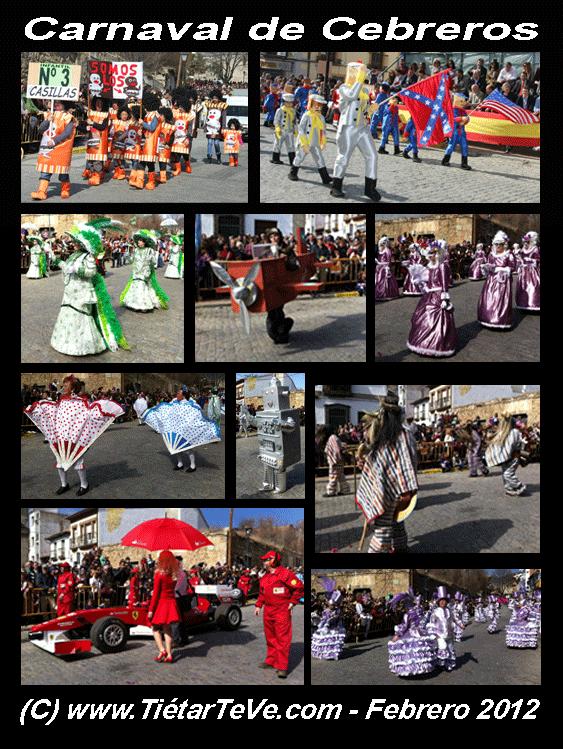 Participantes en el Carnaval de Cebreros 2012