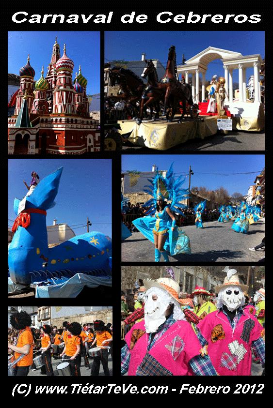 Participantes en el Carnaval Provincial de Cebreros 2012