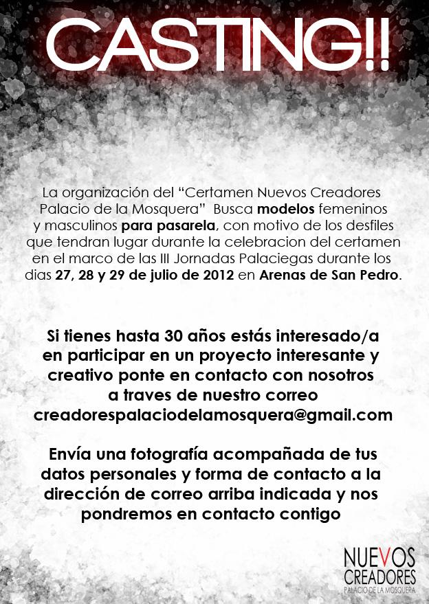 Casting Certamen Nuevos Creadores Palacio de la Mosquera