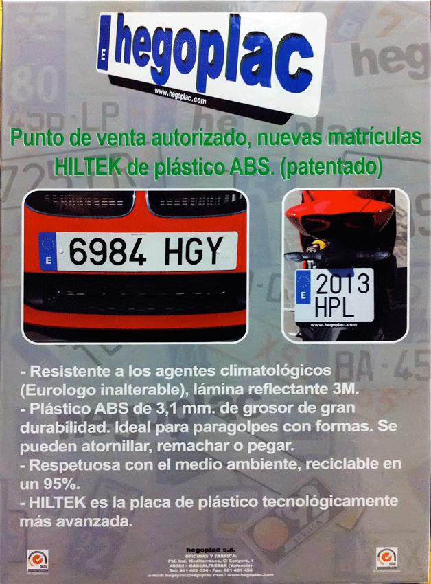 Matrícula HILTEC en Ford Arenas de Arenas de San Pedro