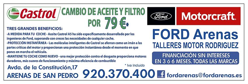 Cambio de Aceite y Filtro - Ford Arenas - Arenas de San Pedro - TiétarTeVe