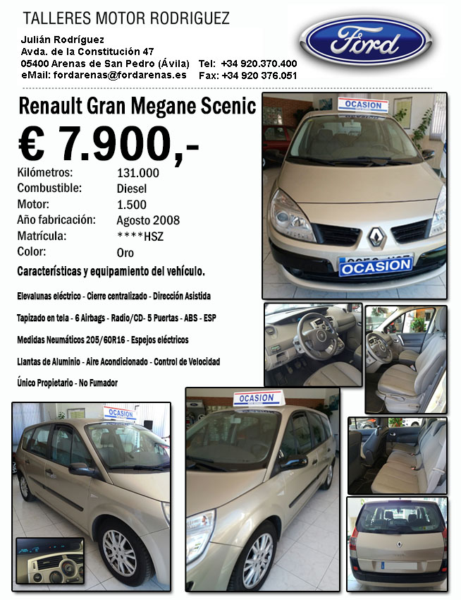 "Oferta Renault Gran Megane ""Ford Arenas"" ****HSZ - Arenas de San Pedro - TiétarTeVe"