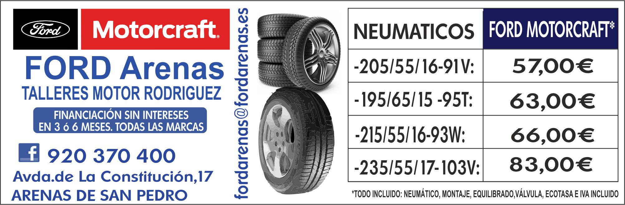 Ford Arenas - Oferta Ruedas - Agosto 2018 - TiétarTeVe