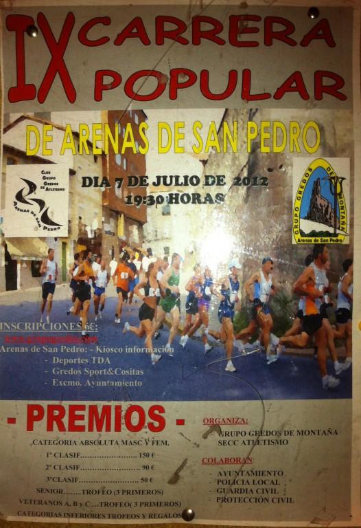 IX Carrera Popular de Arenas de San Pedro