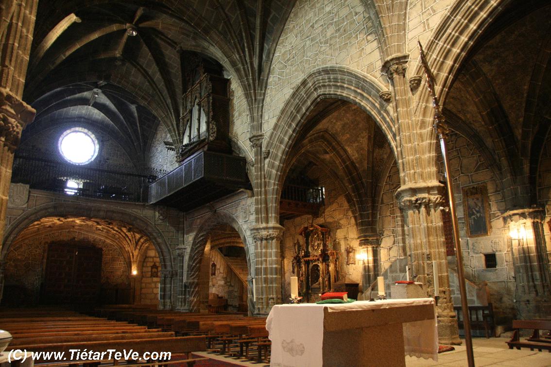 Bienes de Interés Cultural - Vista interior de la Iglesia de San Juan Bautista de Mombeltrán