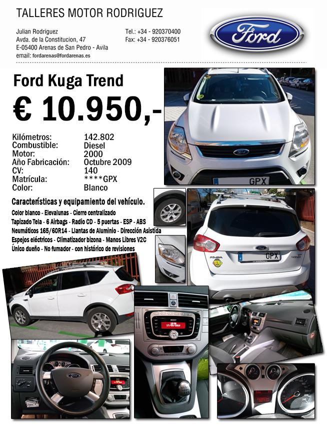 Oferta Ford Kuga GPX - Ford Arenas - Talleres Motor Rodríguez - Arenas de San Pedro - TiétarTeVe