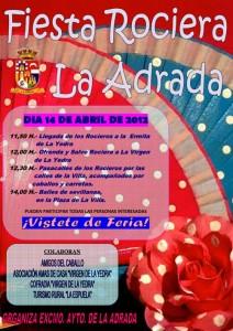 Cartel II Fiesta Rociera en La Adrada