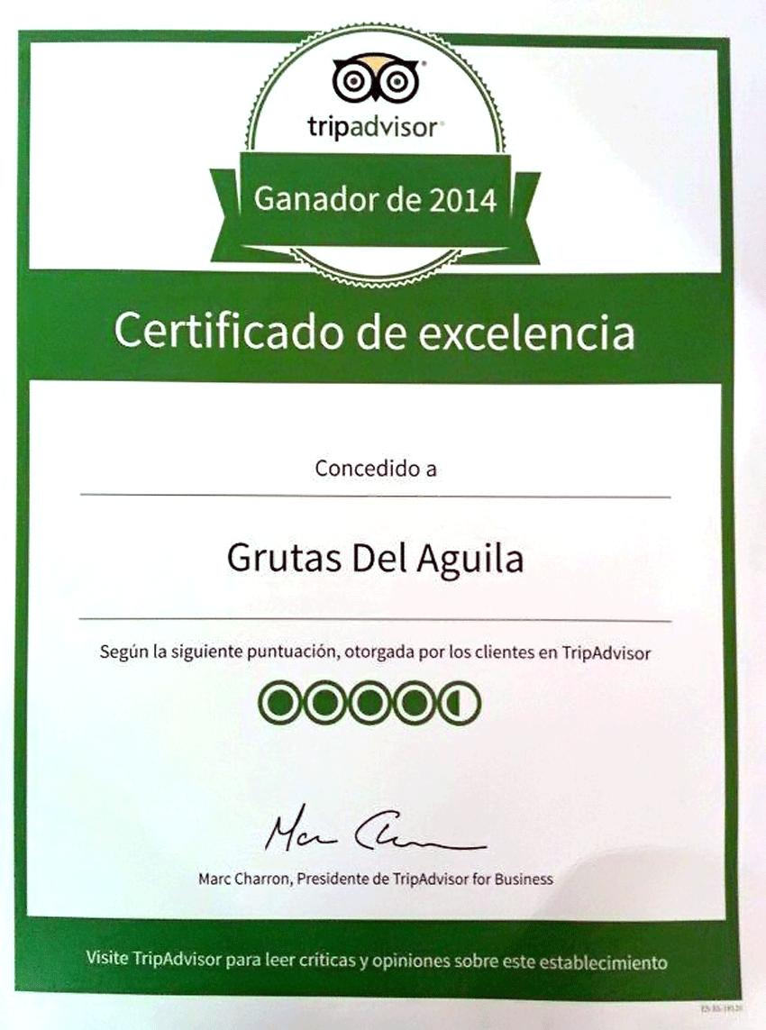 Certificado de Excelencia TripAdvisor - TiétarTeVe