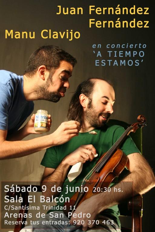 """Cartel """"A tiempo Estamos"""" - Sala El Balcón - Arenas de San Pedro"""