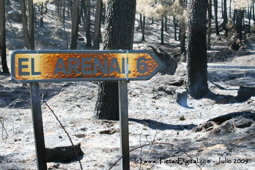 Incendio cartel El Arenal