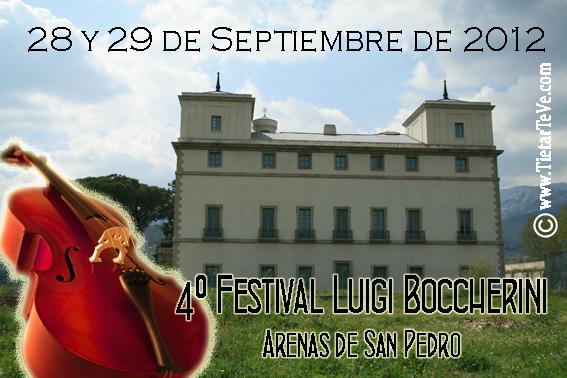4º Festival Luigi Boccherini 28 y 29 de Septiembre de 2012
