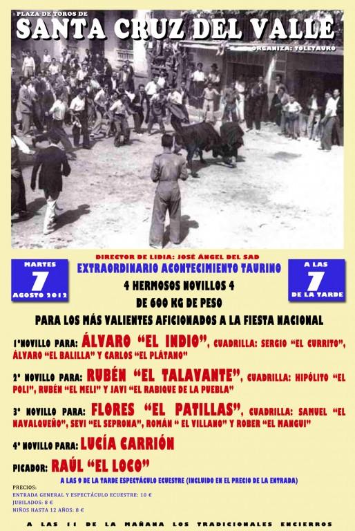 Cartel Becerrada 2012 en Santa Cruz del Valle