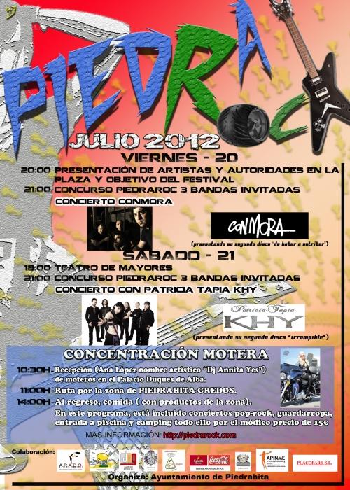 cartel piedrarock 2012