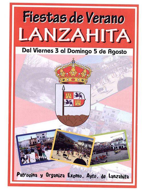Cartel de las Fiestas de Agosto 2012 en Lanzahíta