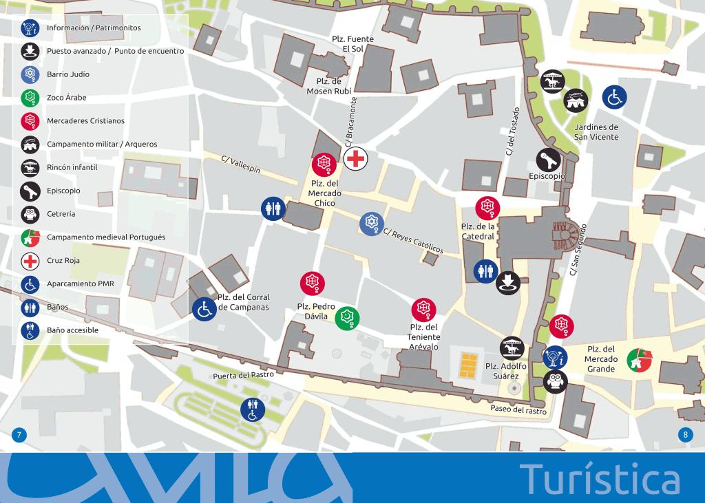 Mapa Turistico De Avila.Xvi Jornadas Medievales De Avila Plano Tietarteve