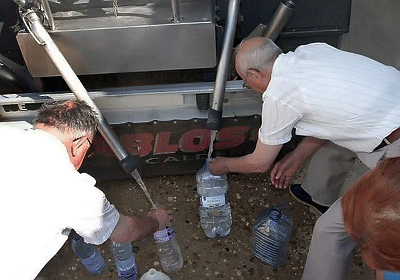 Abastecimiento de agua por camiones cisternas