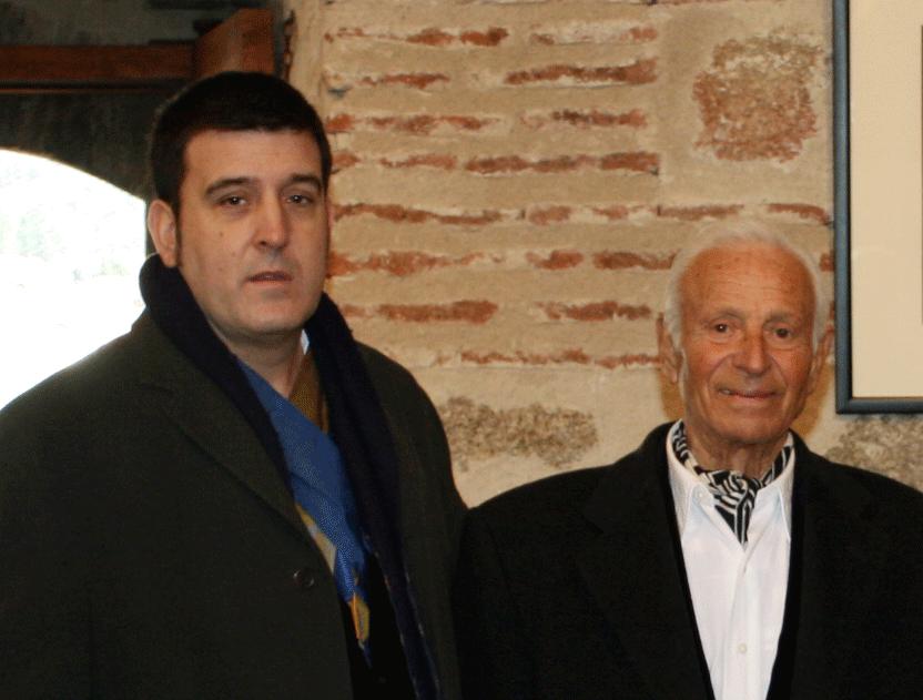 2010-01-09 Inauguración Exposición Manuel Aznar - Eduardo Blázquez y Manuel Aznar