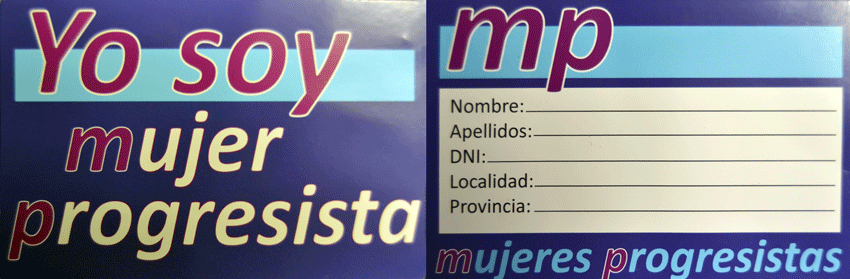 Carnet Asociación Mujeres Progresistas.
