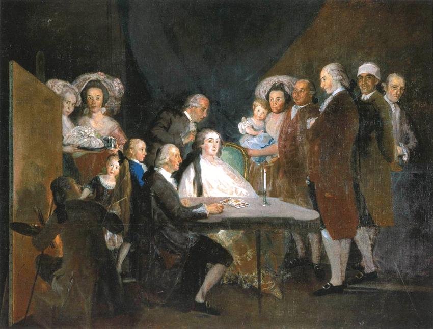 La familia del Infante don Luis de Borbón y Farnesio en Arenas de San Pedro - Goya