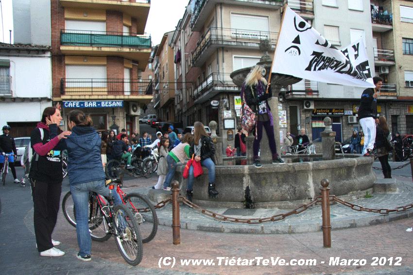 I Biciflashmob de Arenas de San Pedro