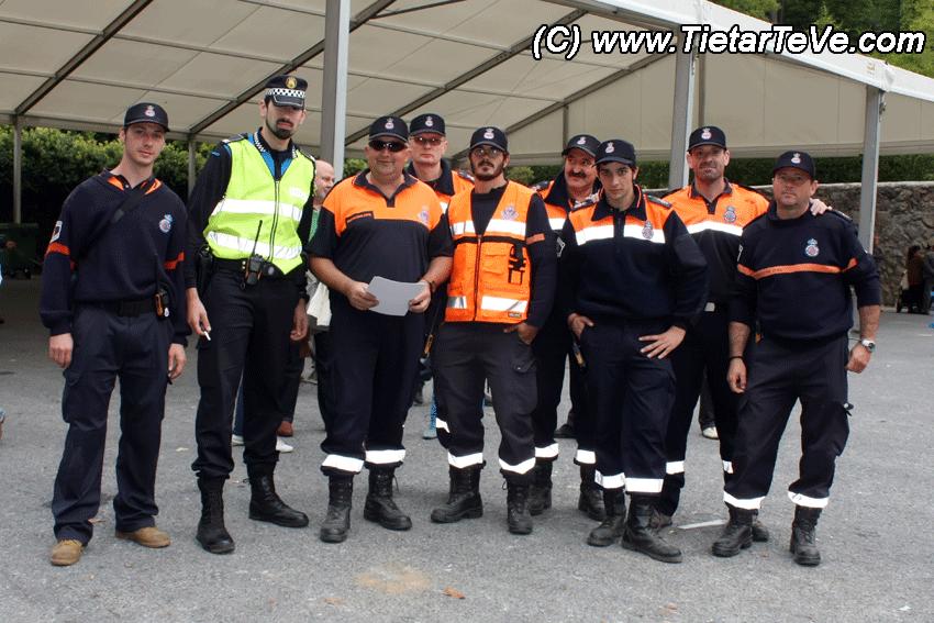 Protección Civil y Policía Local en la Romería de Oropesa a Arenas de San Pedro