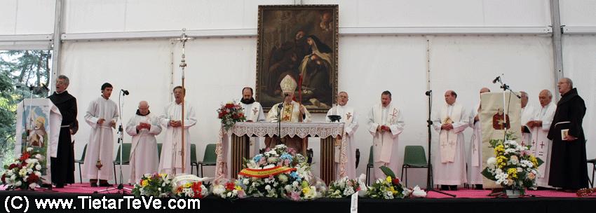 Misa Solemne presidida por el Obispo de Ávila en el Santuario de San Pedro de Alcántara 2012