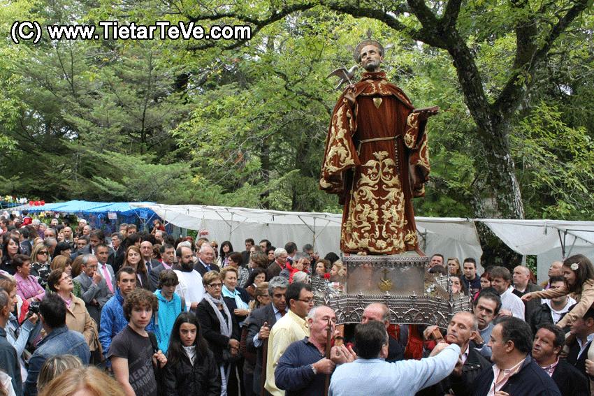 San Pedro de Alcántara en su procesión en el Santuario de Arenas 2012