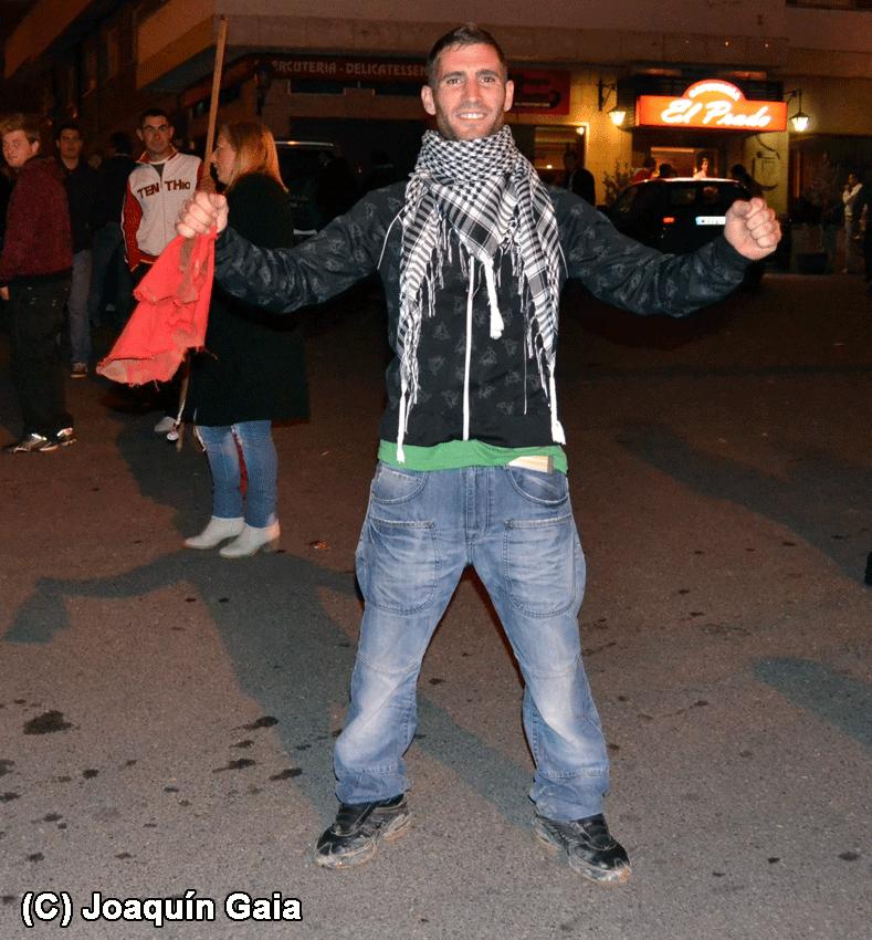 Mikel, el ganador del concurso en la Capea Nocturna de Arenas de San Pedro