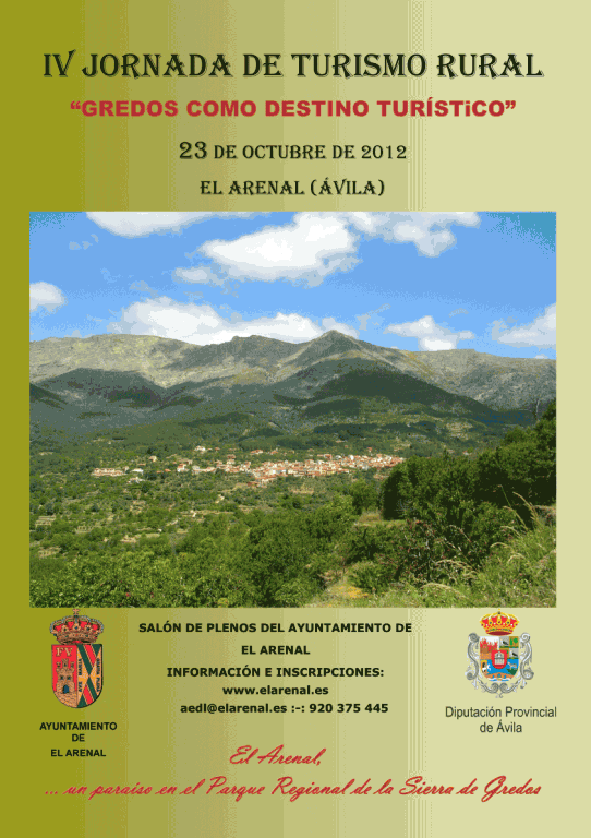 IV Jornada de Turismo Rural de El Arenal