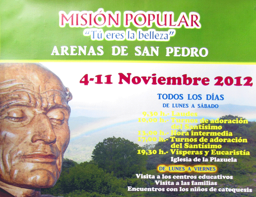 Misión Popular en Arenas de San Pedro