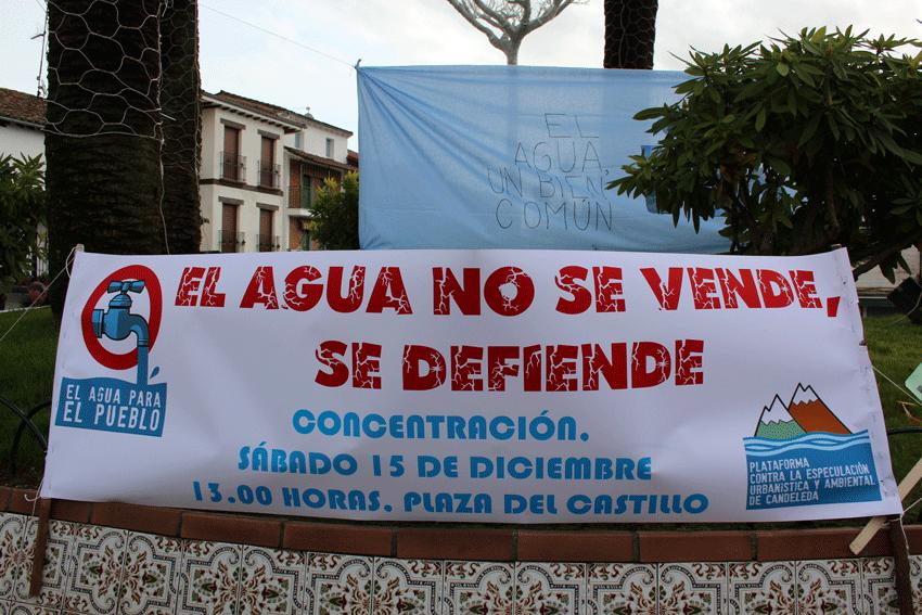 Concentración contra la privatización del Agua en Candeleda
