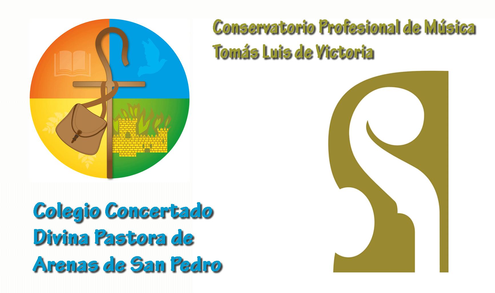 Logo Conservatorio Tomás Luis de Victoria de Ávila y Colegio Divina Pastora de Arenas de San Pedro