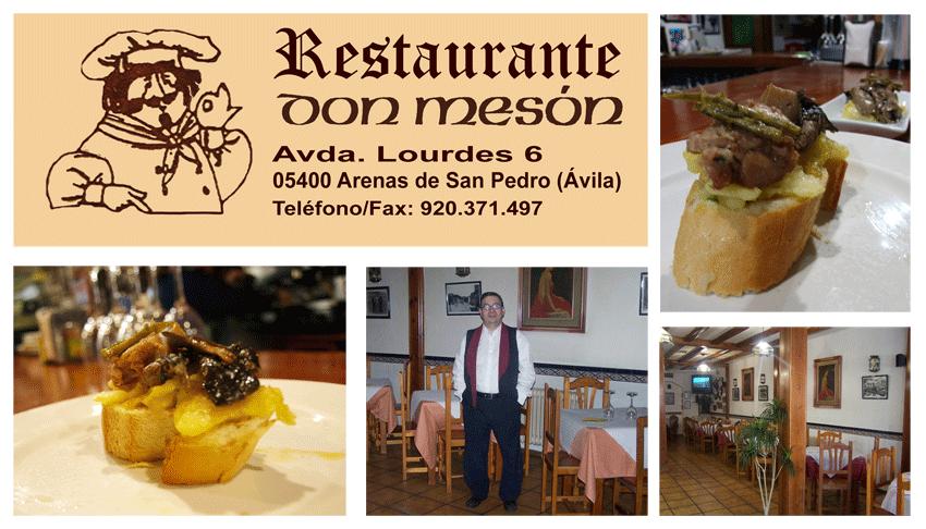Restaurante Don Meson de Arenas de San Pedro - TiétarTeVe