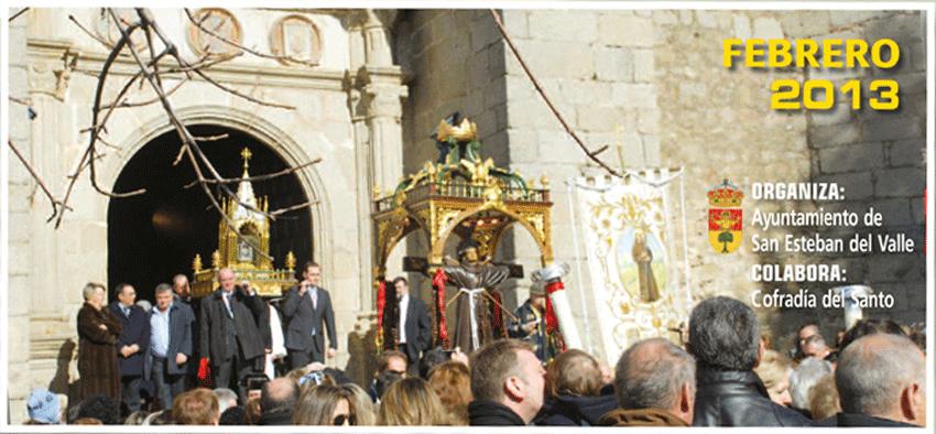 Cartel de las Fiestas de Febrero de 2013 en San Esteban del Valle