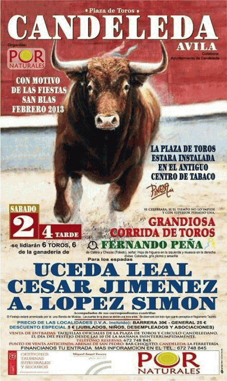 2013-02-02 Cartel Toros Candeleda - TiétarTeVe.com
