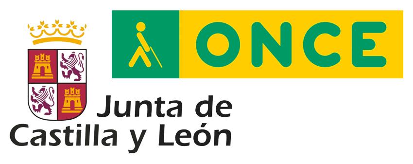 Logotipo ONCE y Junta de Castilla y León