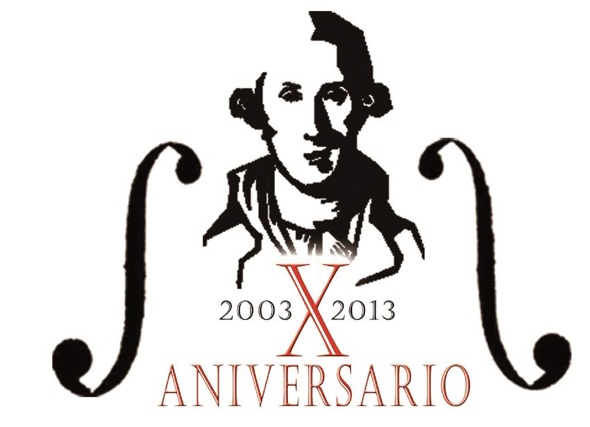 Logo X Aniversario Asociación Luigi Boccherini - TiétarTeVe