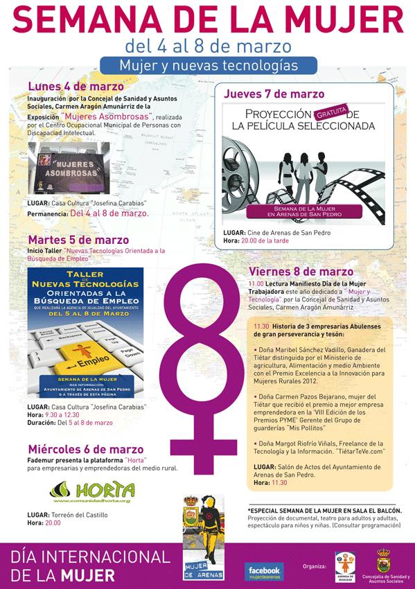 Día Internacional de la Mujer 2013 en Arenas de San Pedro - TiétarTeVe