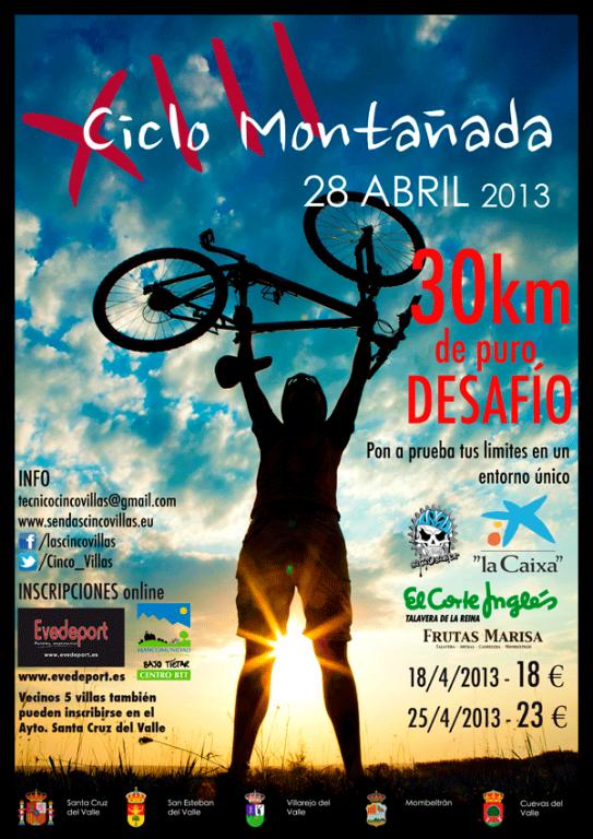 Bicicletas - XIII Ciclomontañada - Barranco de las Cinco Villas - TiétarTeVe
