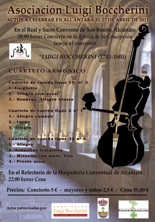 Asociación Luigi Boccherini - Actos en Alcántara 2013 - TiétarTeVe