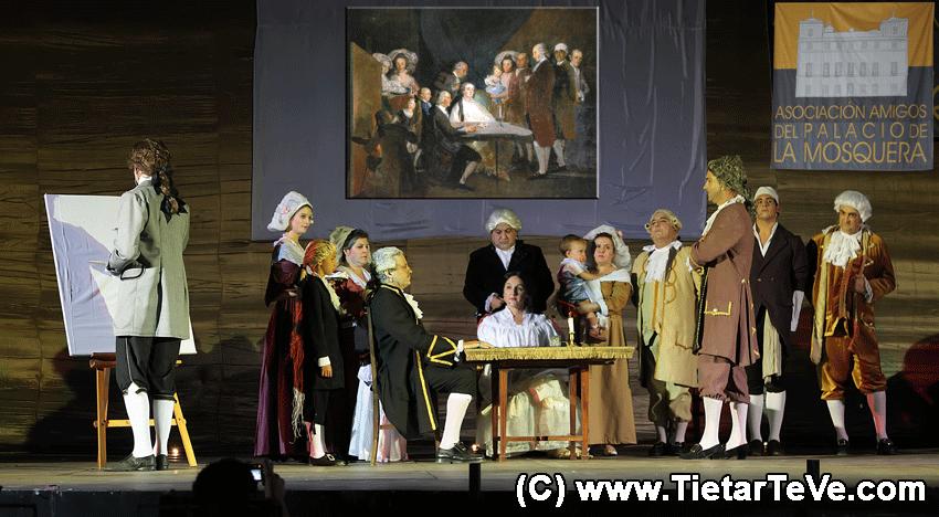 """Puesta en escena del cuadro """"La Familia del Infante don Luis"""" de Goya realizado por la Asociación Amigos del Palacio de la Mosquera el 16 de Agosto de 2009 en el Castillo del Condestable Dávalos de Arenas de San Pedro - TiétarTeVe"""