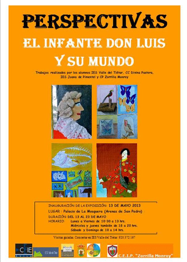 Cartel Exposición Perspectivas Palacio de la Mosquera de Arenas de San Pedro - TiétarTeVe