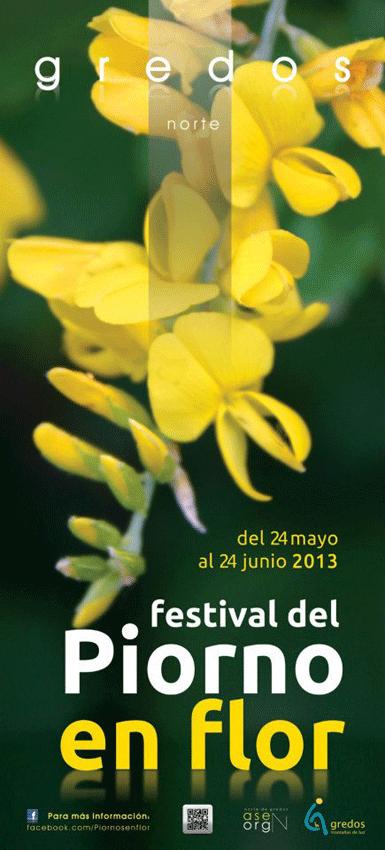 Cartel Festival del Piorno en Flor en Gredos - TiétarTeVe