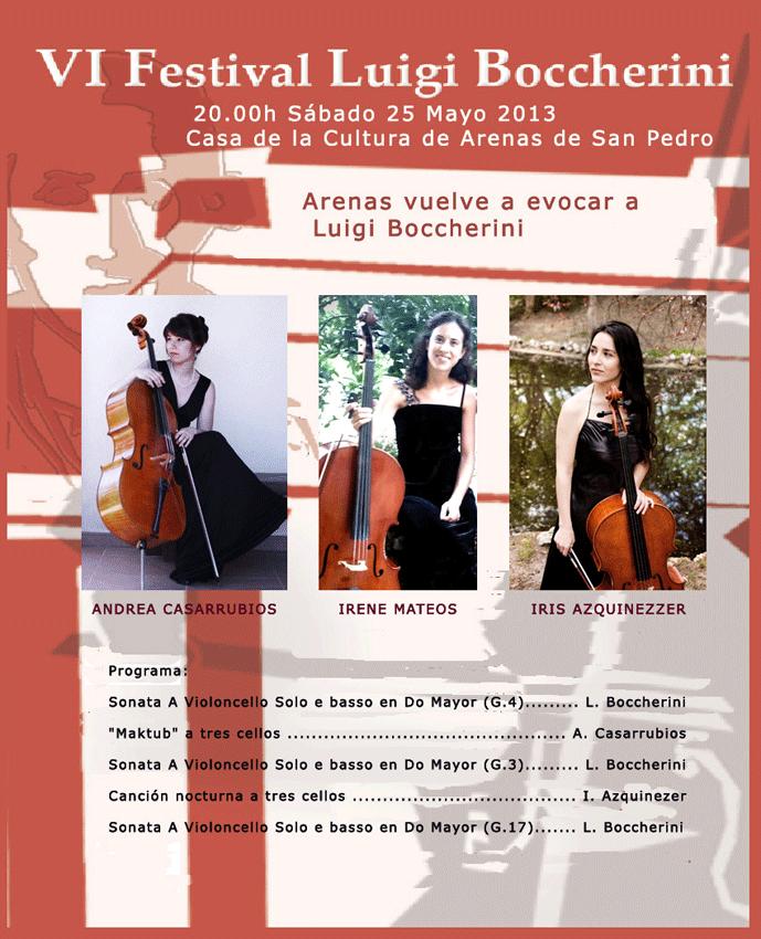 Trío de Chelistas en el VI Festival Luigi Boccherini de Arenas de San Pedro - TiétarTeVe