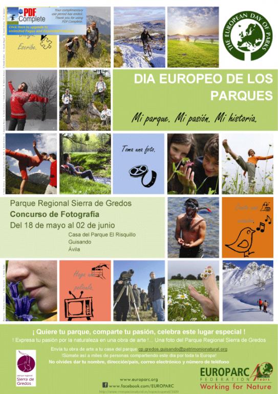 Cartel Concurso de Fotografía Europarc - Casa del Parque El Risquillo de Guisando - TiétarTeVe